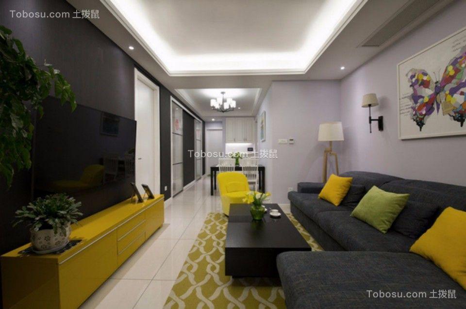 翠堤苑90平米三室一厅北欧装修效果图
