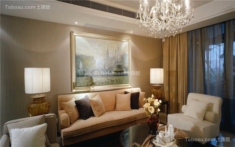 金基翠城112平现代三室两厅一卫装修效果图