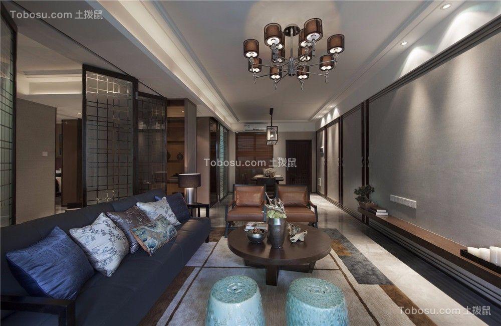 星河国际135平米现代风格三居室装修效果图