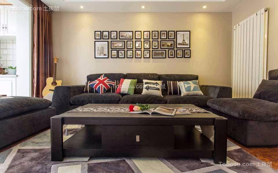 金新御园121平米现代风格三居室装修效果图