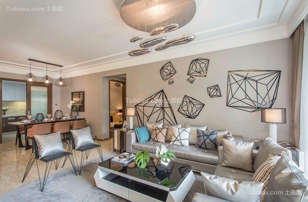 南京聚宝山庄80平现代简约风格二居室装修效果图