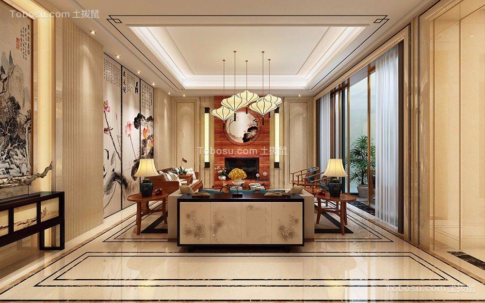 110平米四季康城三居室中式装修效果图