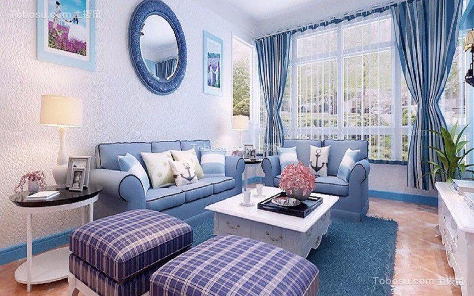 100平方三室一厅地中海风格装修效果图