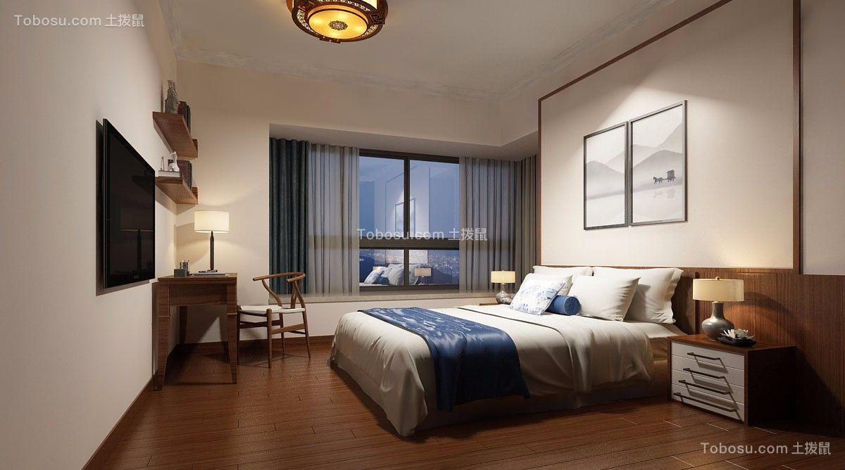 卧室米色细节新中式风格装饰设计图片
