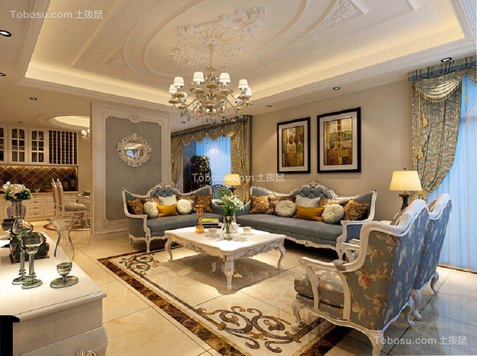 融信白宫170平米法式新古典风格套房装修效果图