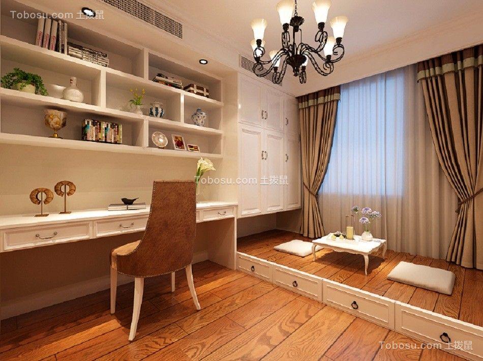 书房彩色书桌法式风格装修设计图片