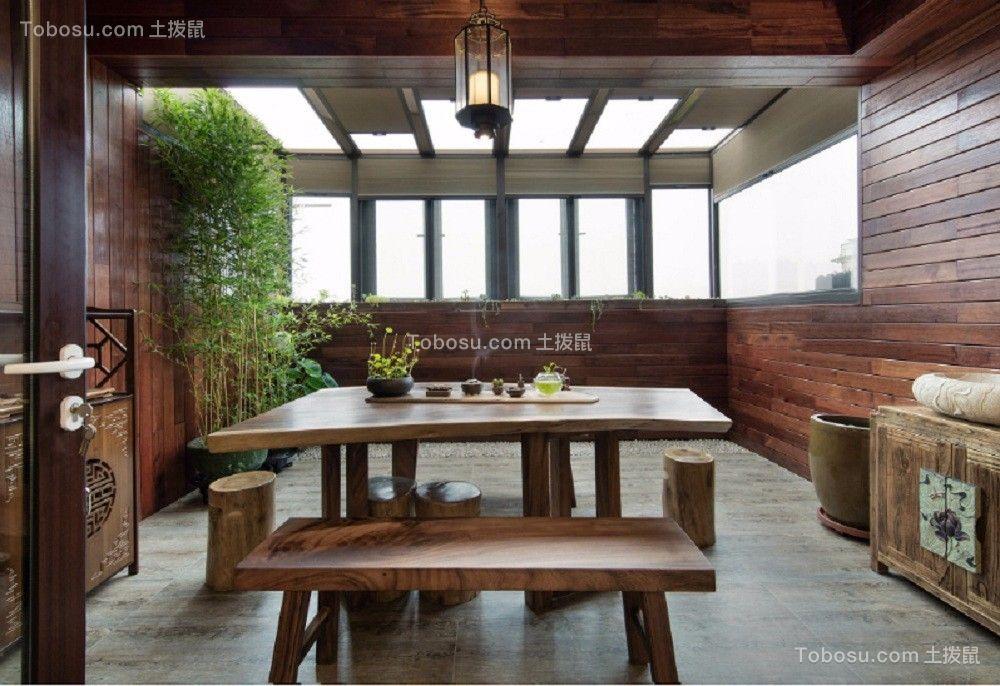 客厅 茶几_闽江世纪城141平米新中式风格装修效果图