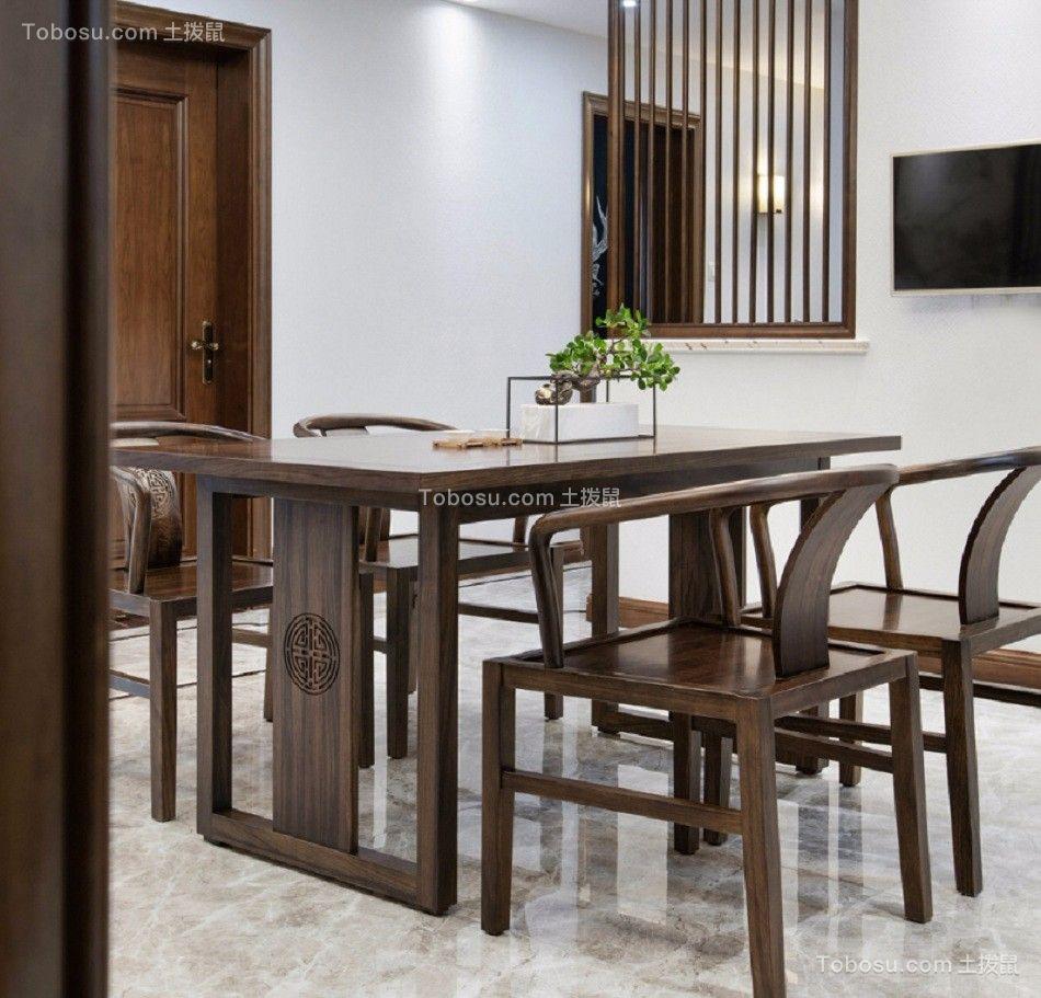 餐厅 餐桌_闽江世纪城141平米新中式风格装修效果图