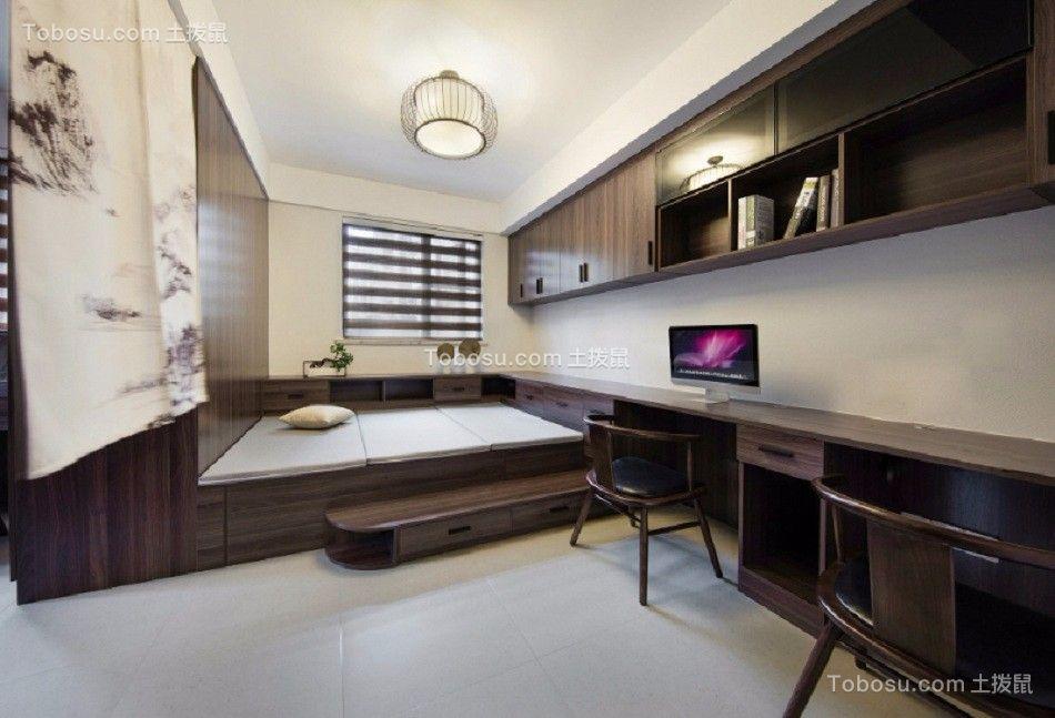 起居室 榻榻米_闽江世纪城141平米新中式风格装修效果图