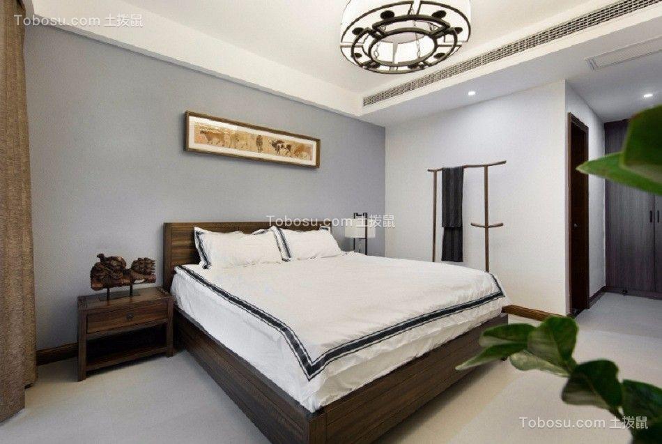 卧室 床_闽江世纪城141平米新中式风格装修效果图