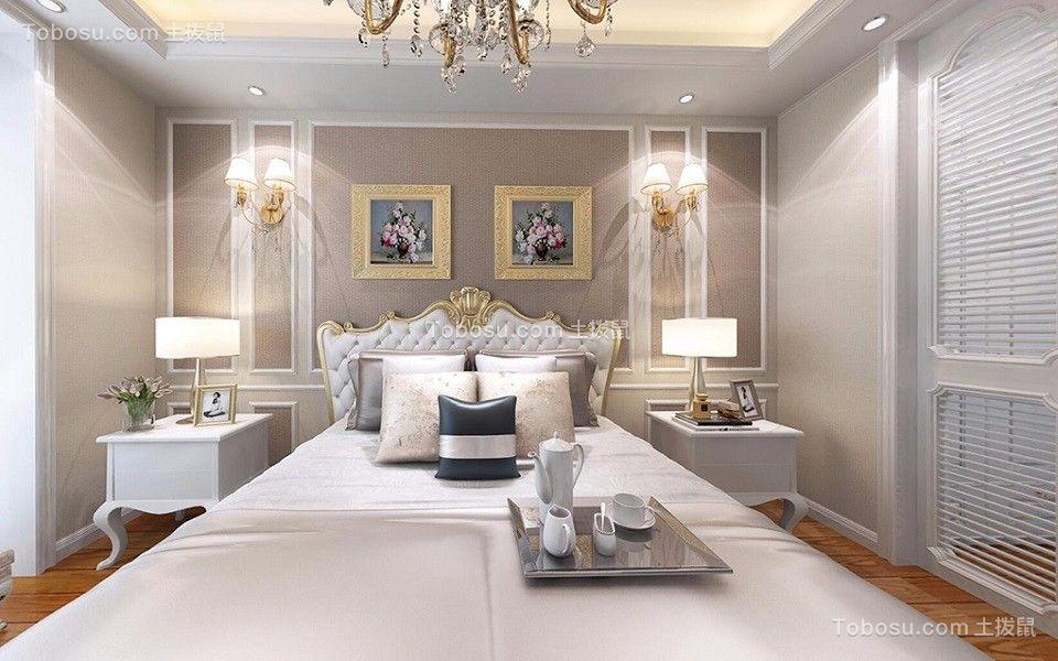 卧室白色床欧式风格装修效果图