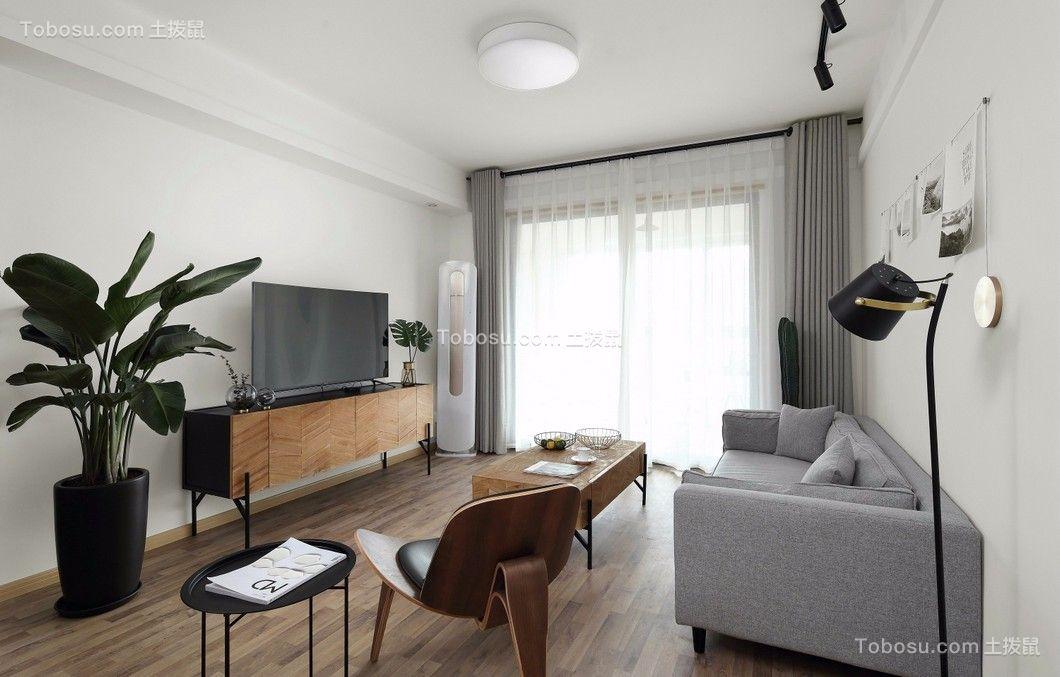 2018现代简约客厅装修设计 2018现代简约隐形门装修图