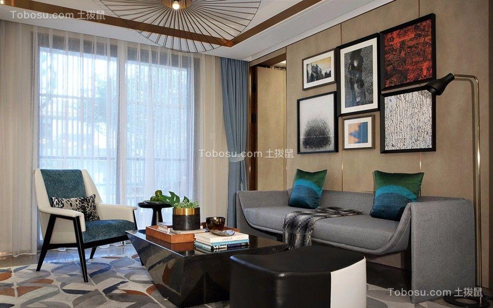 上怡南苑现代风格94平方三居室装修效果图