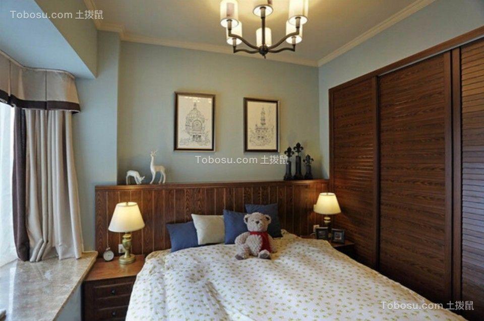 城南锦绣70平两室一厅美式装修效果图