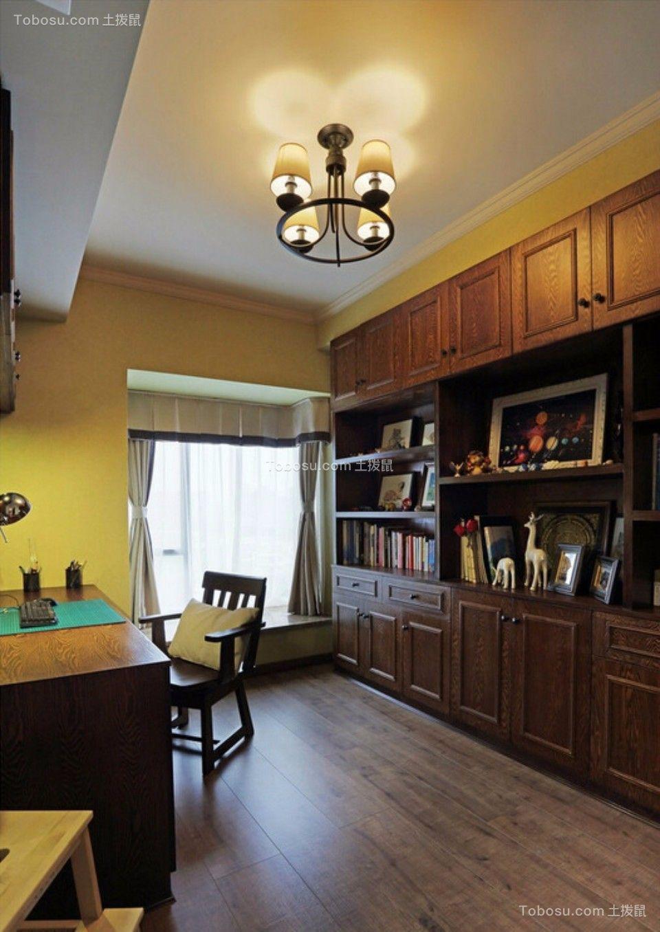 书房 书架_城南锦绣70平两室一厅美式装修效果图