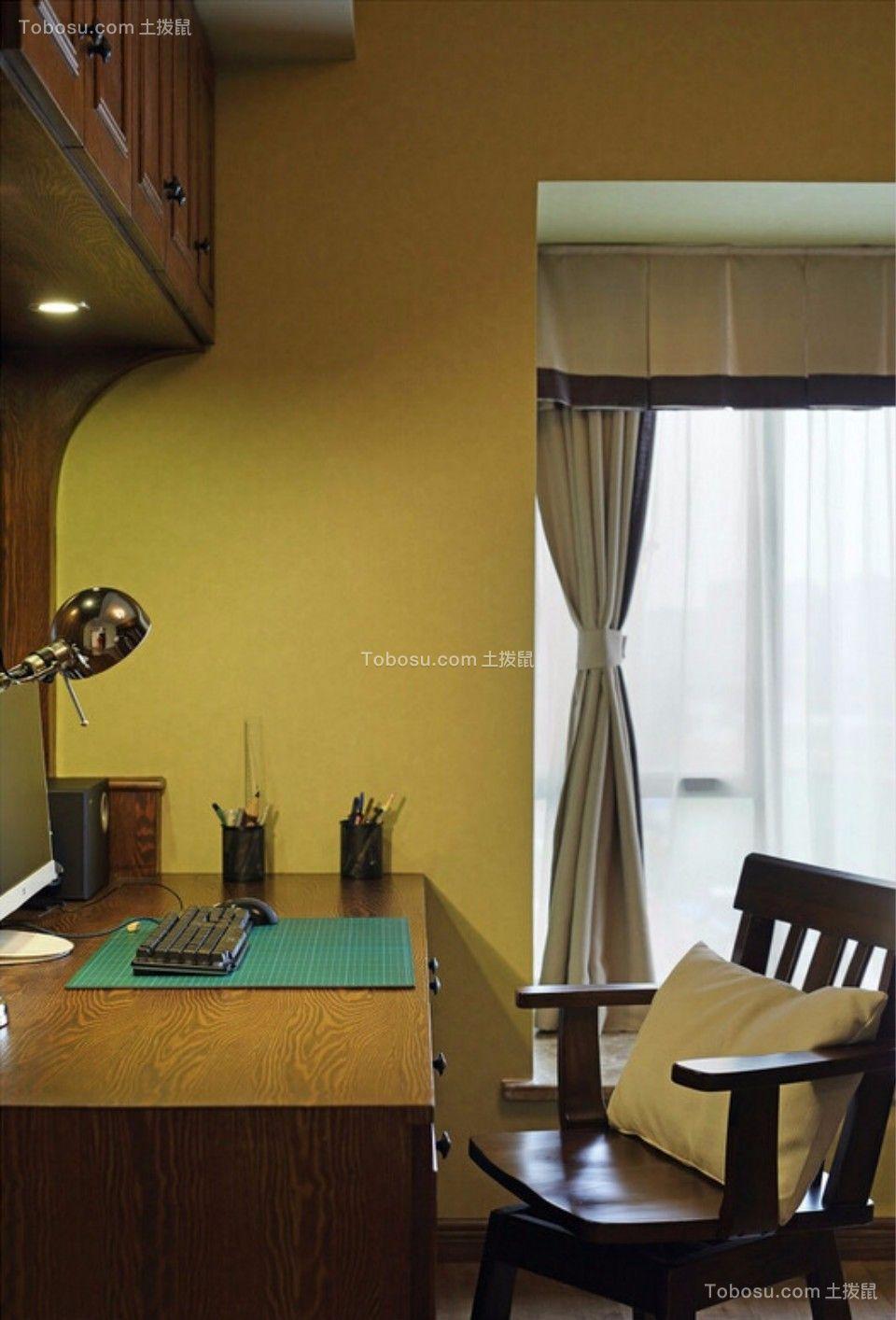 书房 书桌_城南锦绣70平两室一厅美式装修效果图