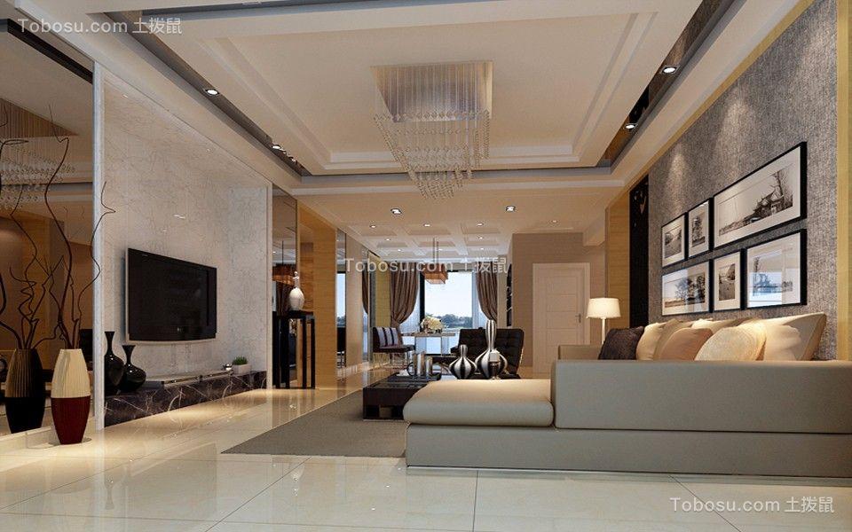 康城国际120平米现代简约风格三居装修效果图