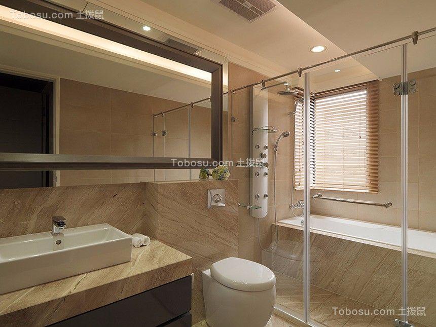 卫生间白色隔断北欧风格装饰图片