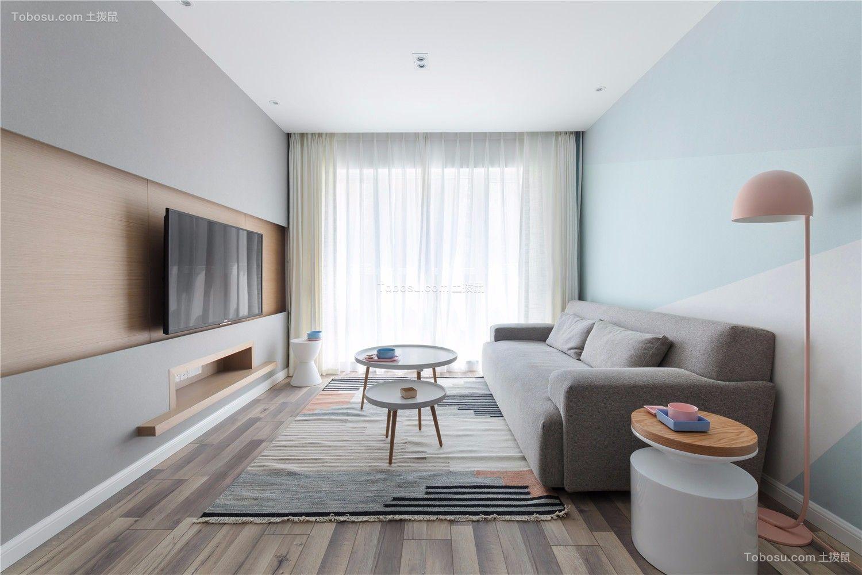 现代简约风格两居室70平米装修效果图