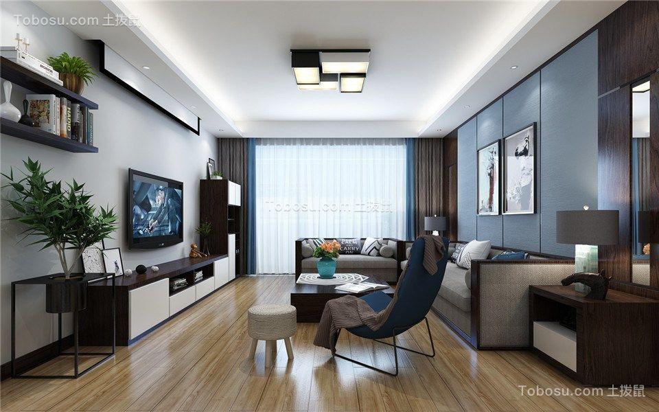 西子曼城90平三居室现代简约风格效果图