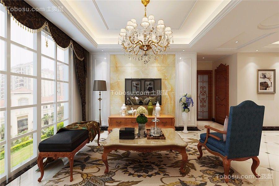 太湖新村110平米美式风格三居室装修效果图