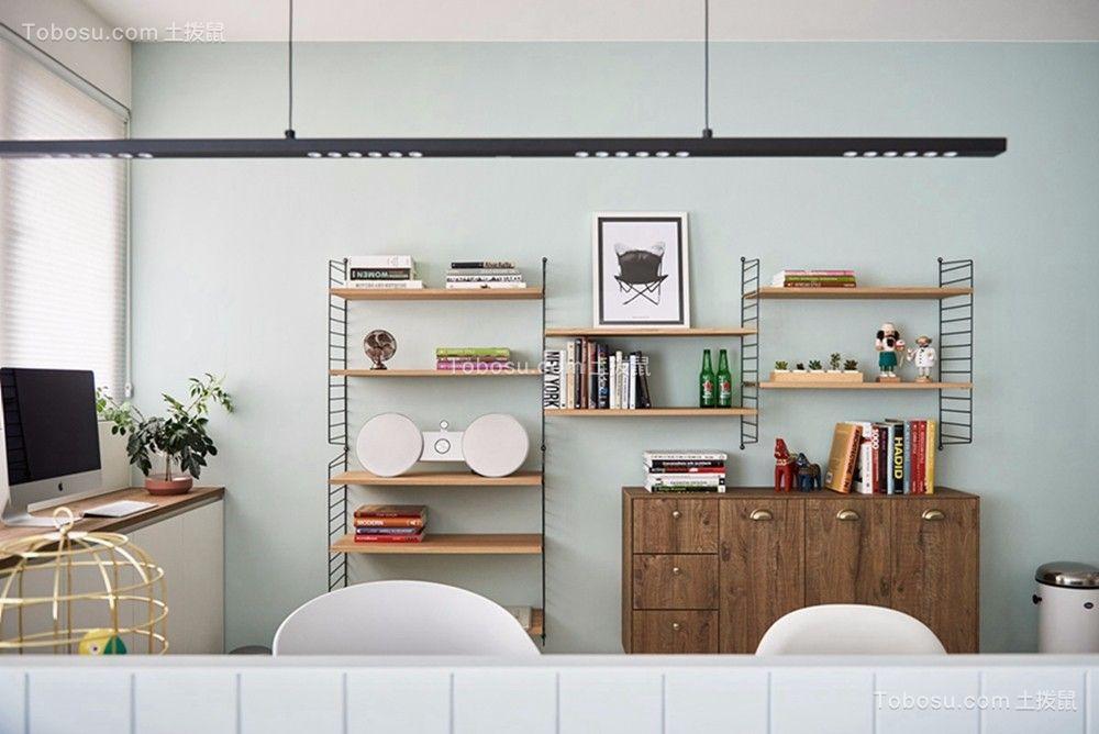 客厅彩色书桌简约风格装饰效果图