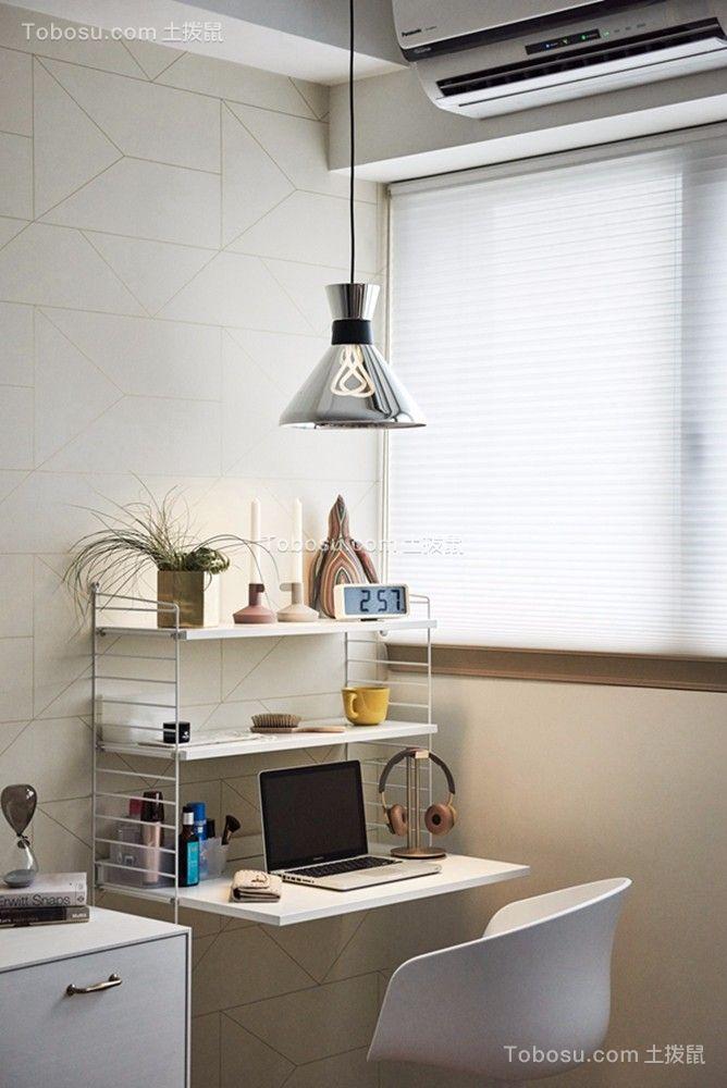 客厅彩色书桌简约风格装饰图片