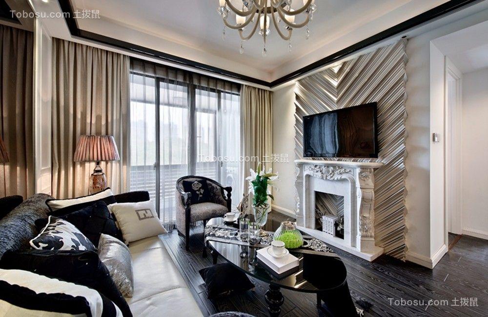 南京东郊小镇60平米欧式风格一居室装修效果图