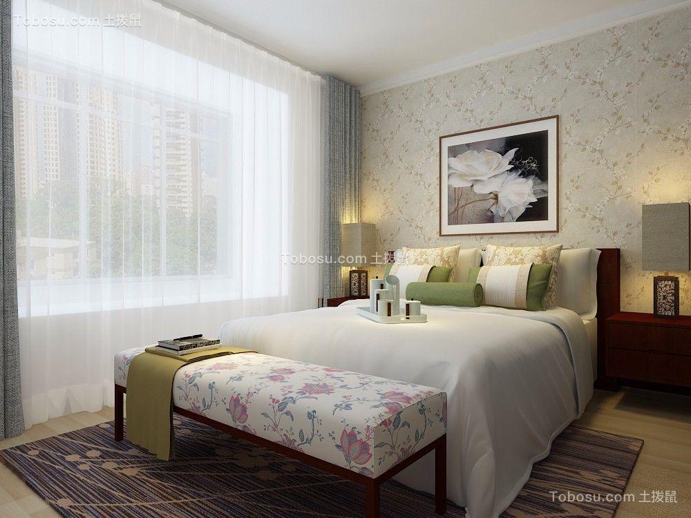 卧室白色细节新中式风格装饰效果图
