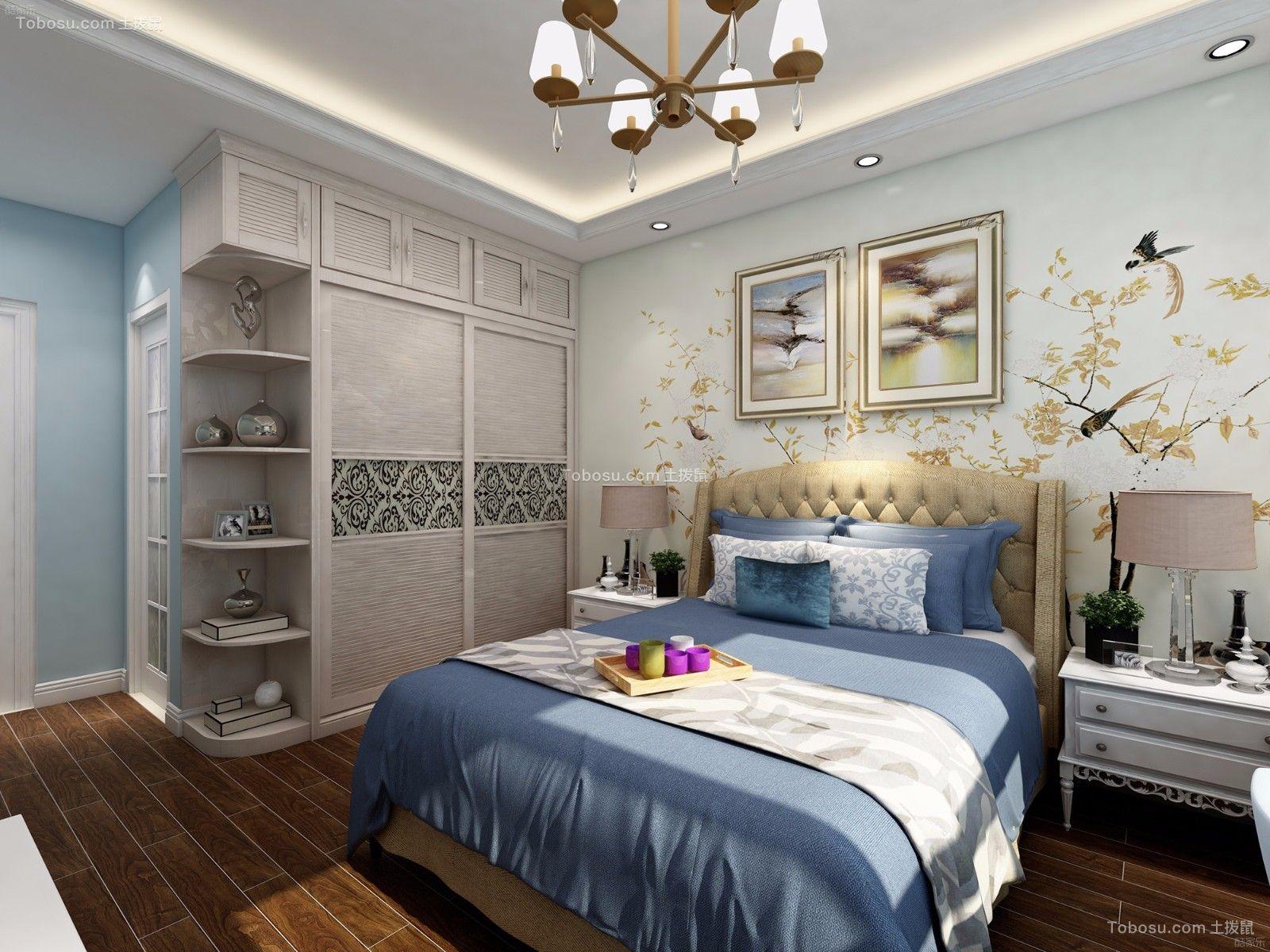 卧室背景墙美式风格装潢图片图片