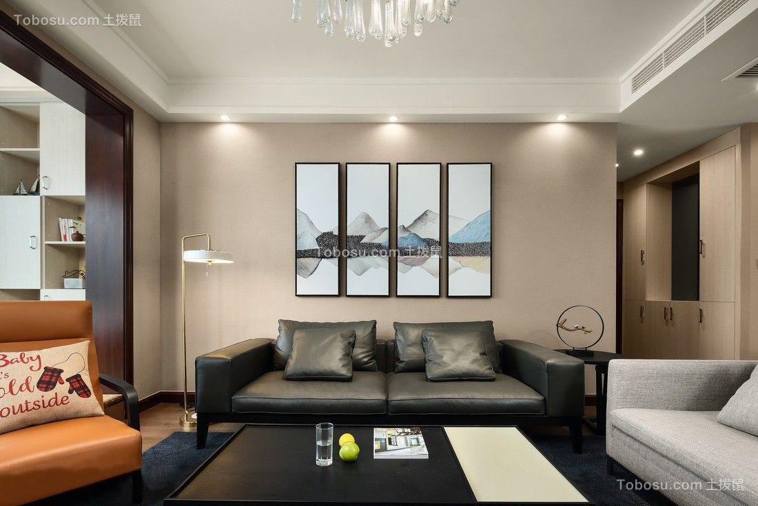 金域蓝湾131平米现代风格三居室装修效果图