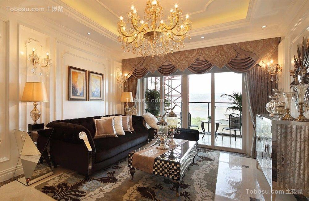 春江花园四居室178平欧式风格效果图