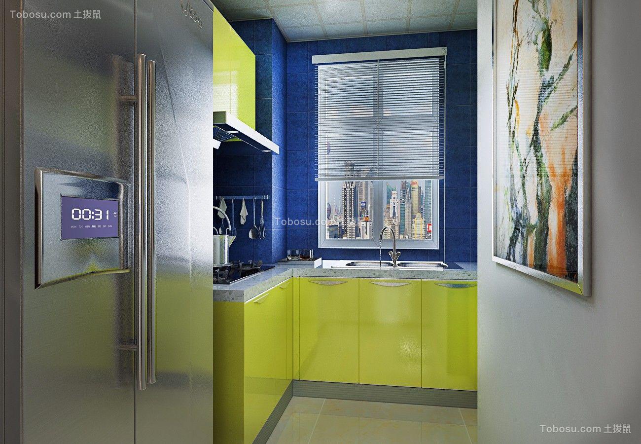厨房 橱柜_金色八里城87平简约二居室装修效果图
