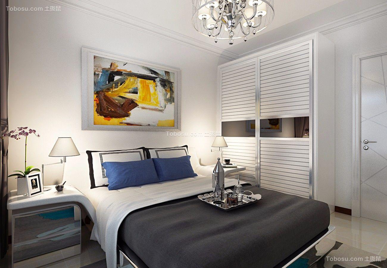 卧室 衣柜_金色八里城87平简约二居室装修效果图
