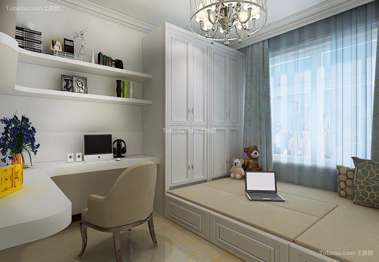 卧室 飘窗_金色八里城87平简约二居室装修效果图