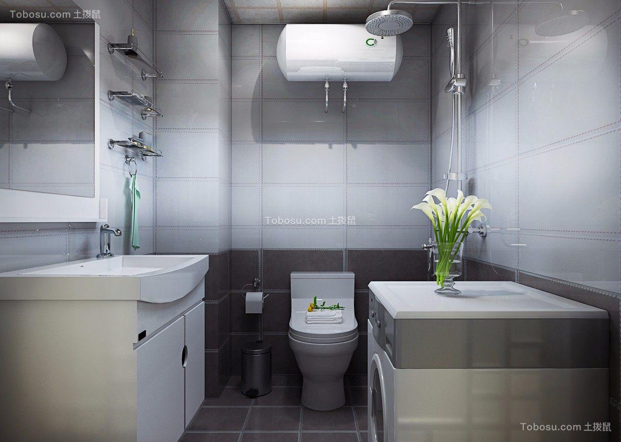 卫生间 洗漱台_金色八里城87平简约二居室装修效果图