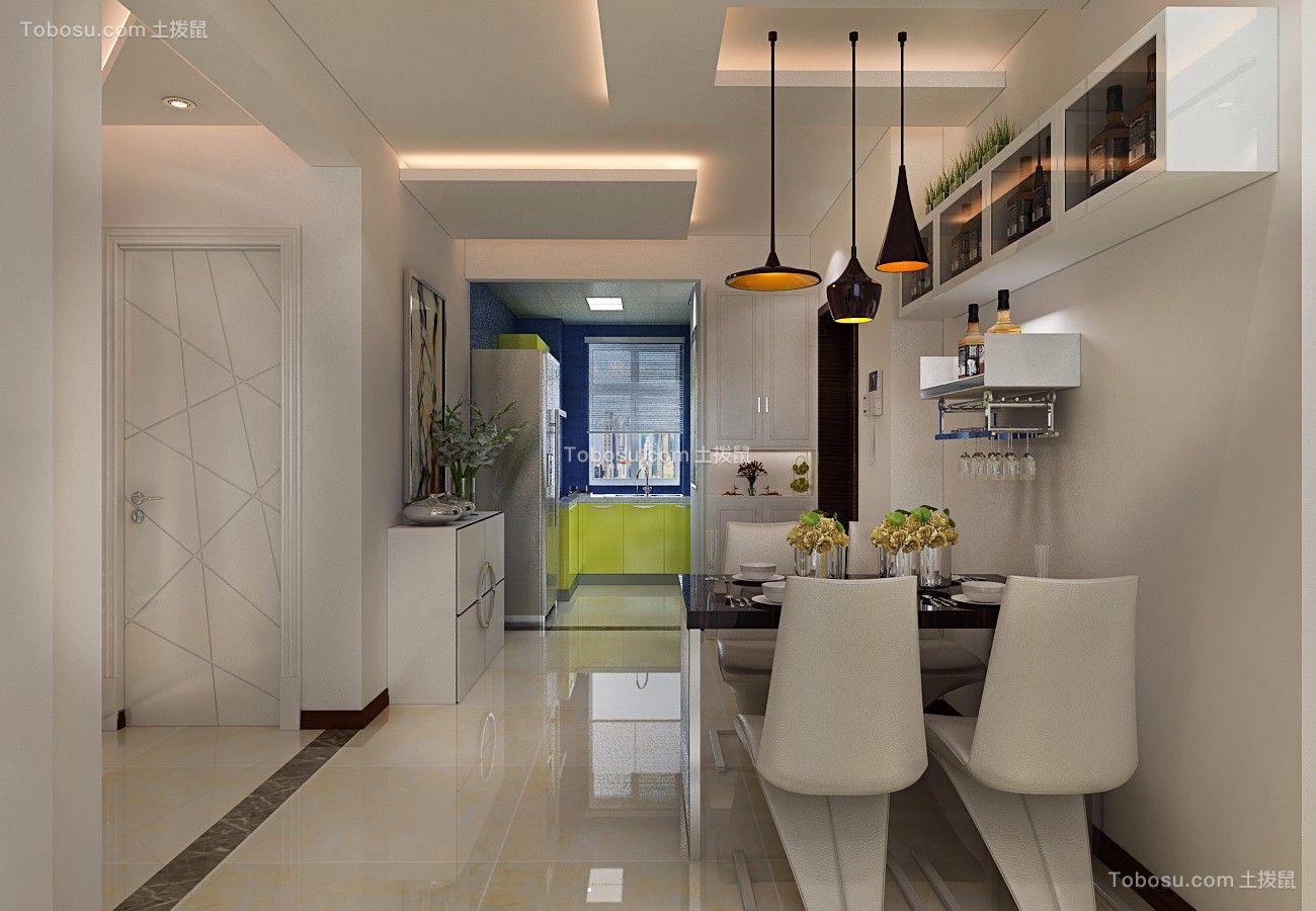 餐厅 餐桌_金色八里城87平简约二居室装修效果图
