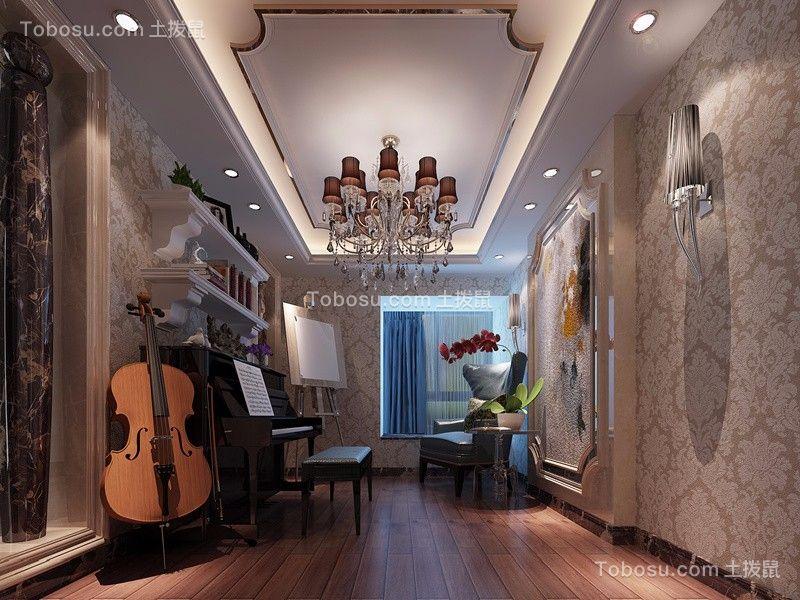 卧室咖啡色窗台欧式风格装饰图片