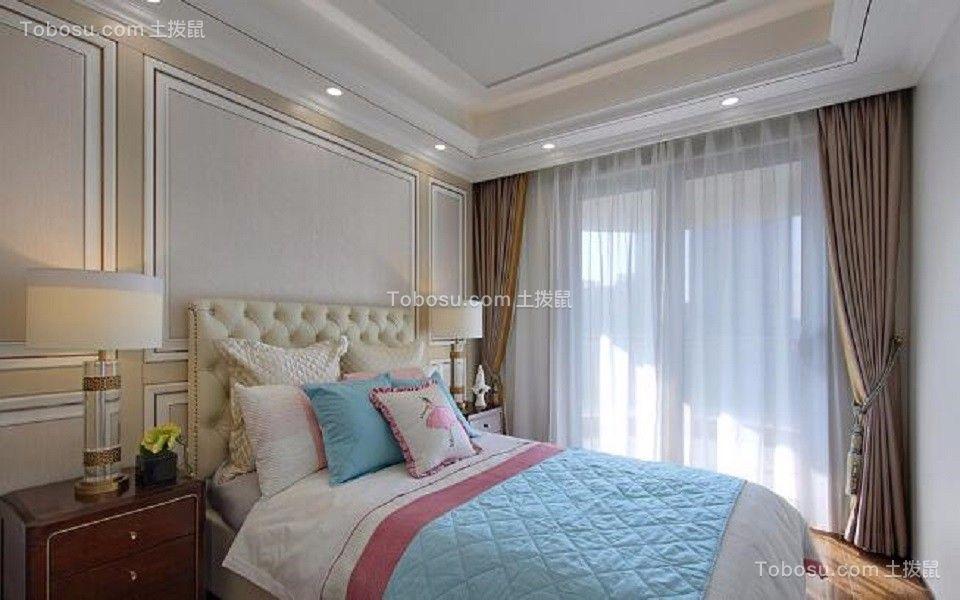 卧室橙色细节新中式风格效果图
