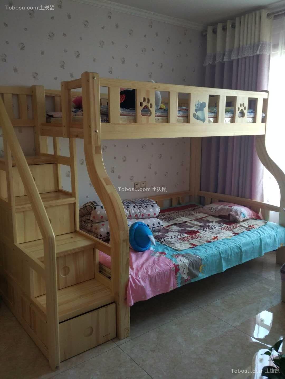 儿童房黄色床新中式风格装饰设计图片
