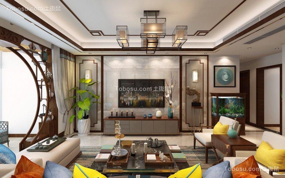 海都汇府118平米新中式风格二居室装修效果图