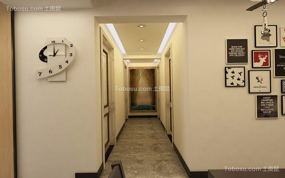 玄关彩色照片墙现代简约风格装潢设计图片