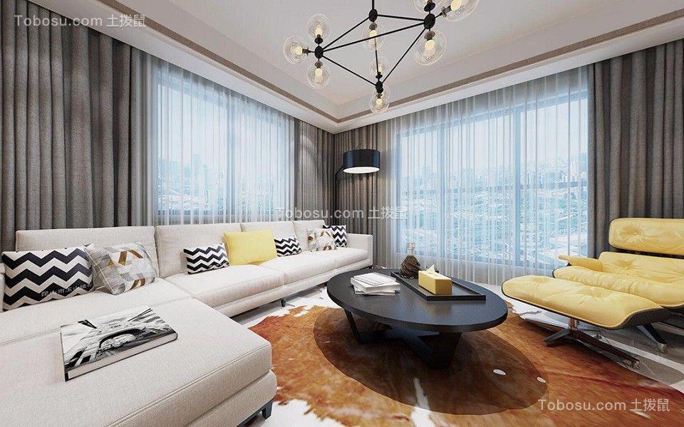 新力帝泊湾130平米北欧风格四居室装修效果图