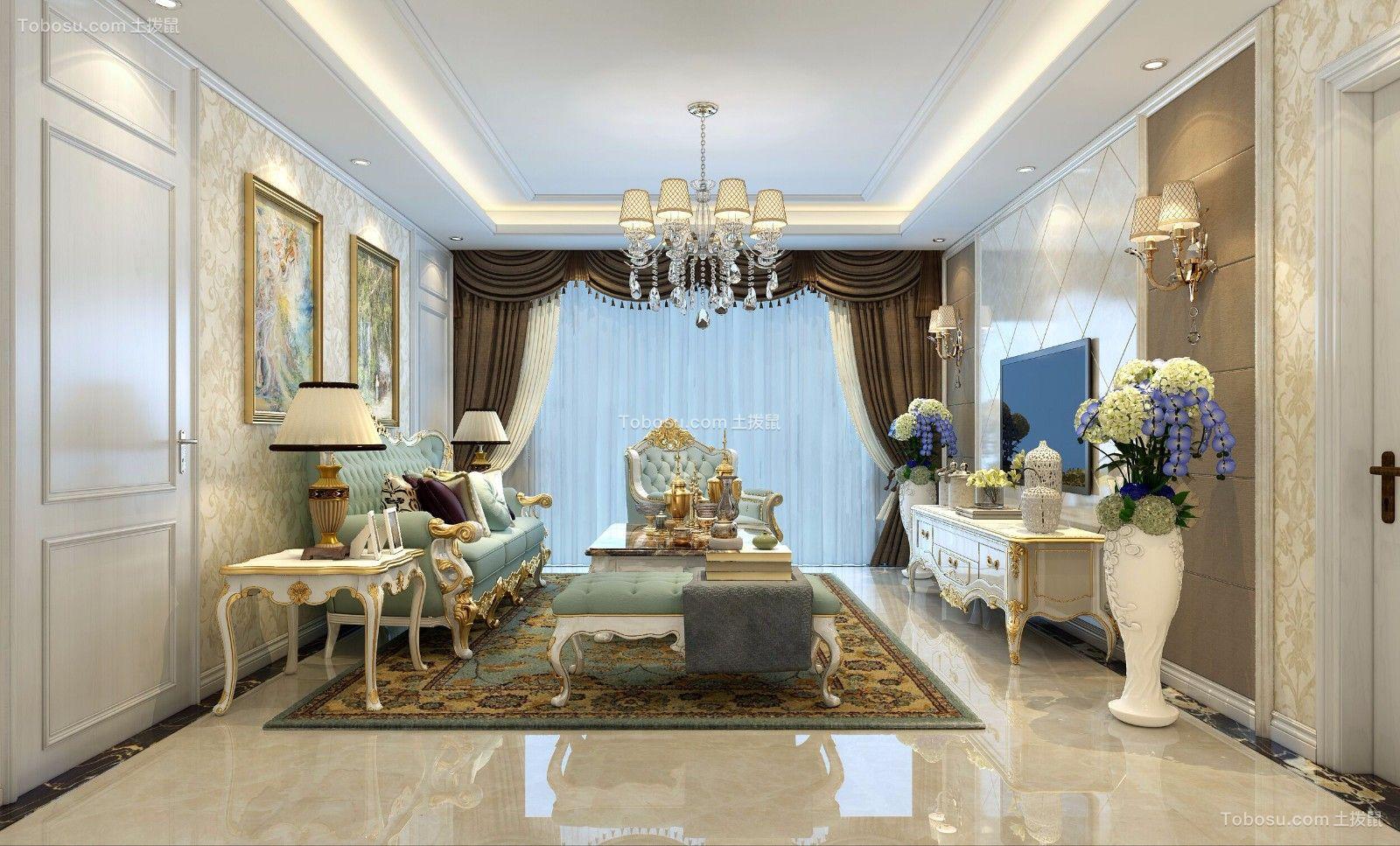 120平欧式风格三室装修效果图