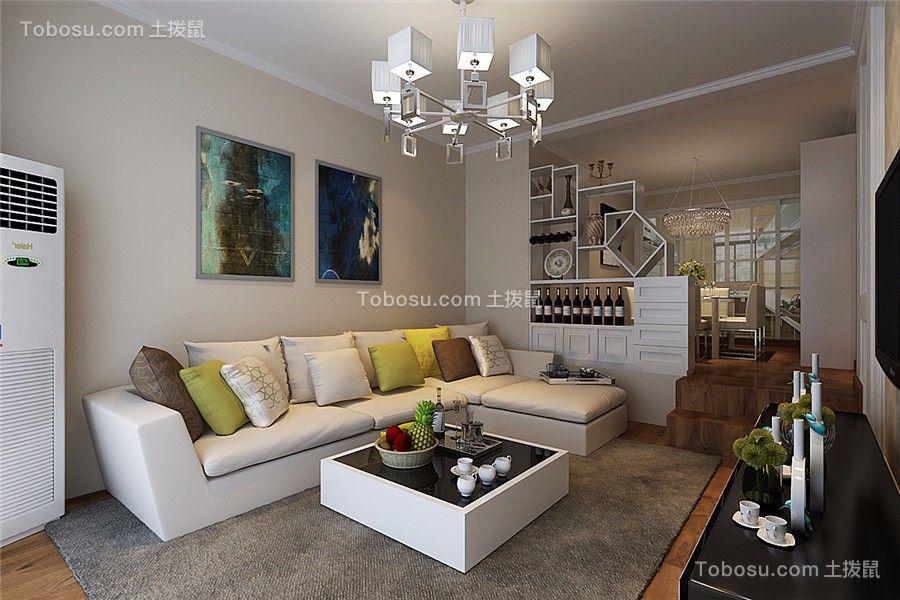 紫竹苑80平现代风格两居室装修效果图