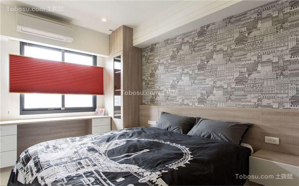 奥山世纪城120平美式三居室装修效果图