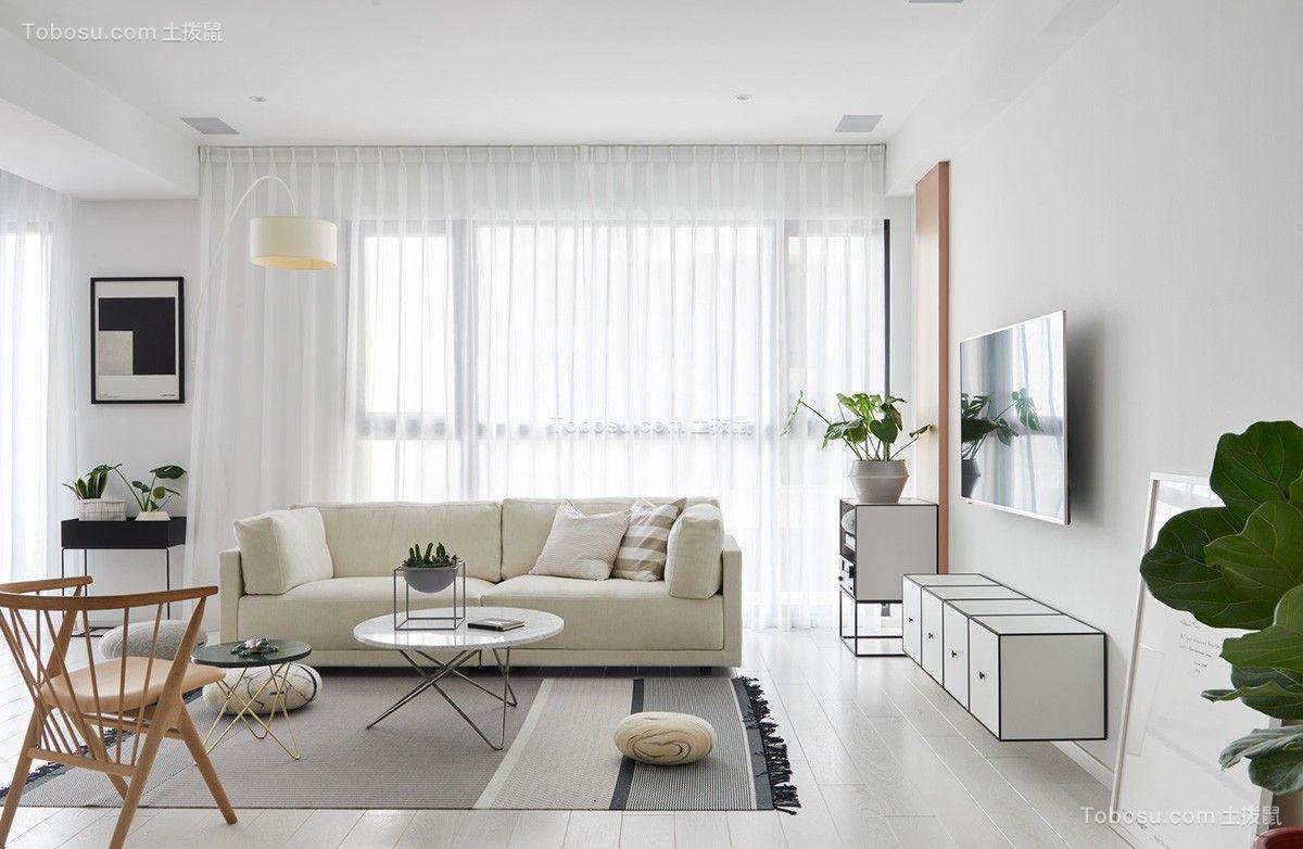 110平简约风格二居室装修效果图