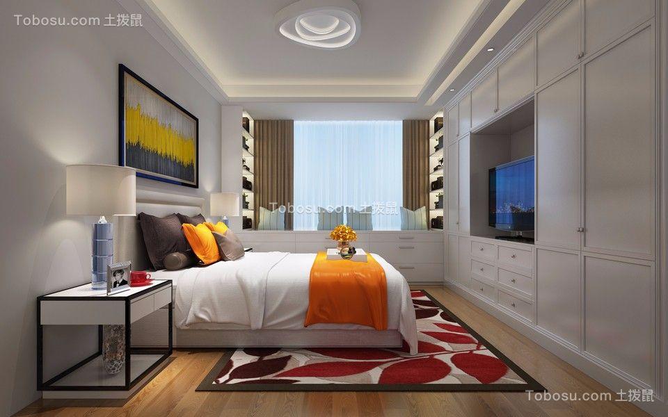 卧室米色床头柜简欧风格装潢设计图片