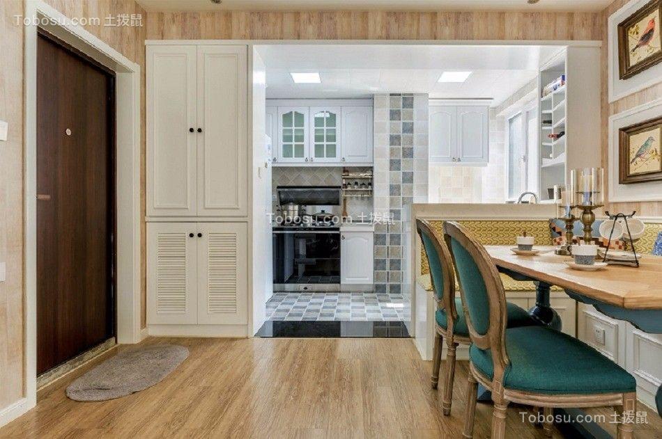 厨房彩色地板砖混搭风格装饰图片