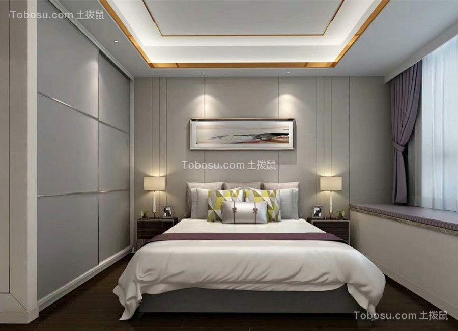 西安曲江铭城127平米简约风格效果图
